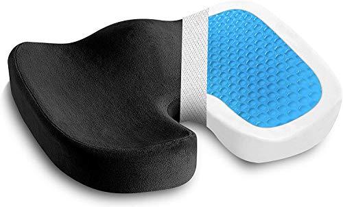 Orthopädisches Kissen mit Gel-Memory-Schaum-StuhlkissenAutositzkissenBürostuhlkissen Fördert Durchblutung und Entlastet das SteißbeinDruckentlastend z.B. bei Dekubitus, Standard