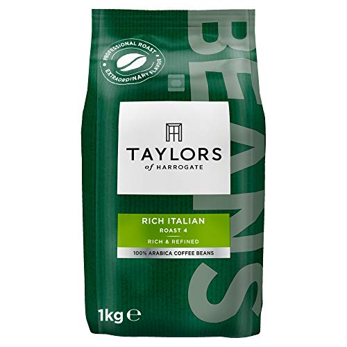 Taylors of Harrogate - Rich Italian Coffee Beans, 1kg (Pack of 2)