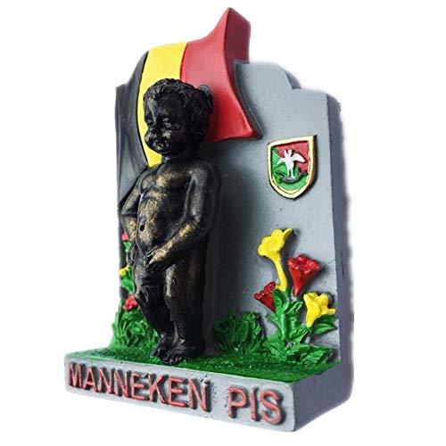 Kühlschrankmagnet Manneken PIS Brüssel Belgien 3D Harz Handgemachtes Handwerk Tourist Travel City Souvenir Sammlung Brief Kühlschrank Aufkleber
