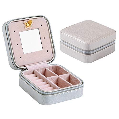 XIAO-XIN Pequeño Recorrido Joyería Organizador Caja Cosmética Maquillaje OrganizadorJejoneros Pendientes Pendientes Almacenamiento Caseta Contenedor (Color : 7)