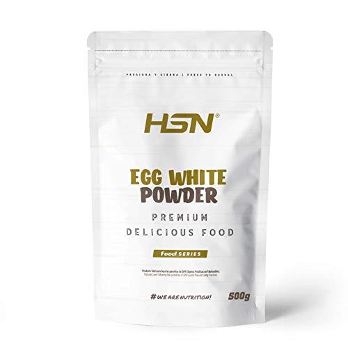 HSN Albumina de Huevo 100% Clara de Huevo en Polvo Deshidratada | Proteína Natural | Sin Grasas, Sin Colesterol, Vegetariano, Sin Gluten, Sin Lactosa, Sabor Natural, 500 gr