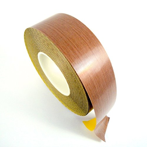 VViViD High Temperature Non-Stick PTFE Adhesive Backed Fiberglass Teflon Tape Roll (1 Inch x 33ft)