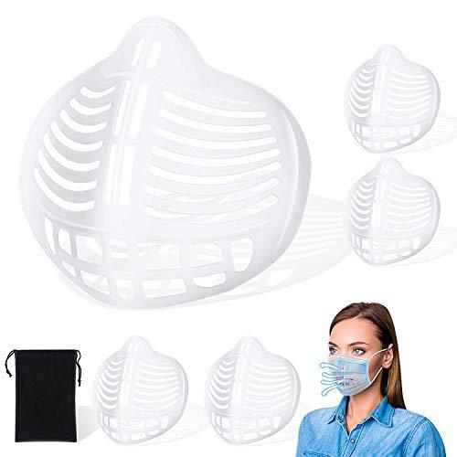 Protector de lápiz labial facial 3D, marco de soporte interno de silicona reutilizable para el rostro, soporte interno para evitar la barra de labios en m-a-s-k
