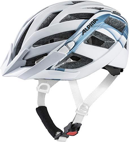 ALPINA PANOMA 2.0 LE Fahrradhelm, Unisex– Erwachsene, white-blue metallic, 52-57