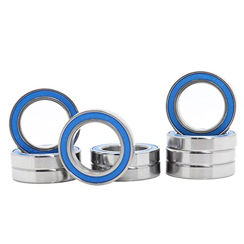 PZZZHF 6803RS Bearing 10PCS 17x26x5 mm ABEC-3 Hobby Electric RC Car Truck 6803 RS 2RS Ball Bearings 6803-2RS Blue Sealed