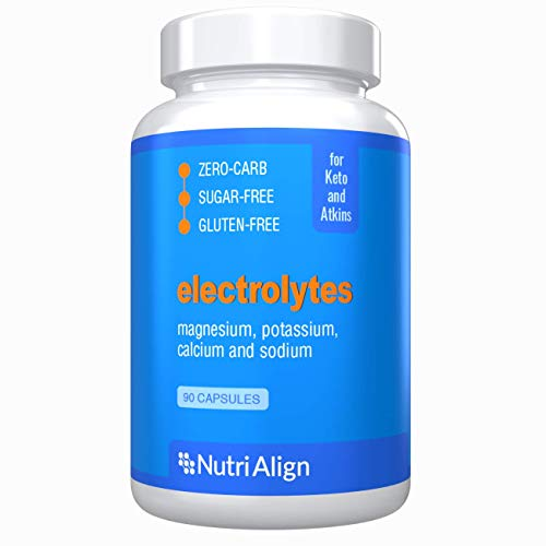 Keto Electrolytes Capsules: Magnesium, Potassium, Calcium, Sodium. For Healthy Electrolyte Balance and Smooth Adaptation to Ketosis. Sugar-Free, Zero-Carb, Gluten-Free. 90 Capsules.