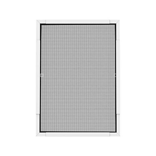 Nematek® Pro Teleskop Insektenschutz Fenster - für Fenster von 80 x 80 cm bis 120 x 140cm (Weiß)