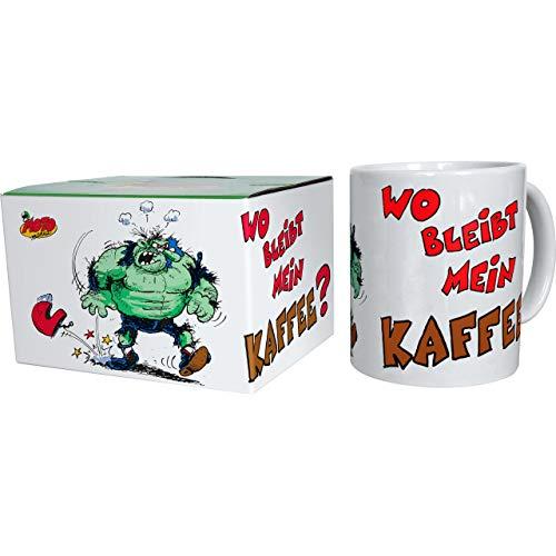 MOTOmania Tasse Tasse Wo bleibt Mein Kaffee?, Unisex, Multipurpose, Ganzjährig, Keramic