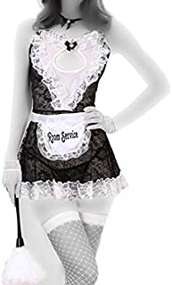Fashion Comfortable Sleeveless Transparent Mesh Maid Costume Lingerie Dress For Women(a063)
