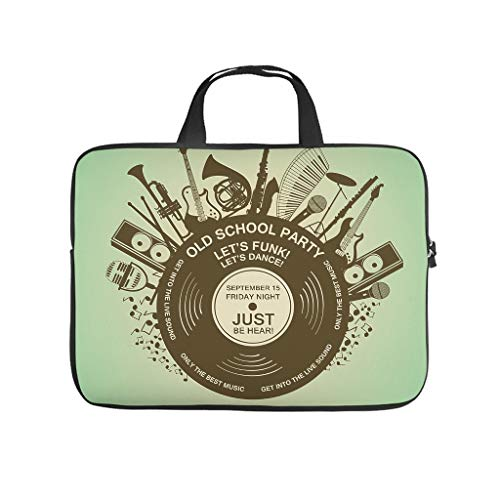 Guitar Music Element Musical Instruments Double Sided Printed Laptop Bag Protective Cover Dustproof Neoprene Laptop Sleeve Case Customized Laptop Sleeve Case for Laptop