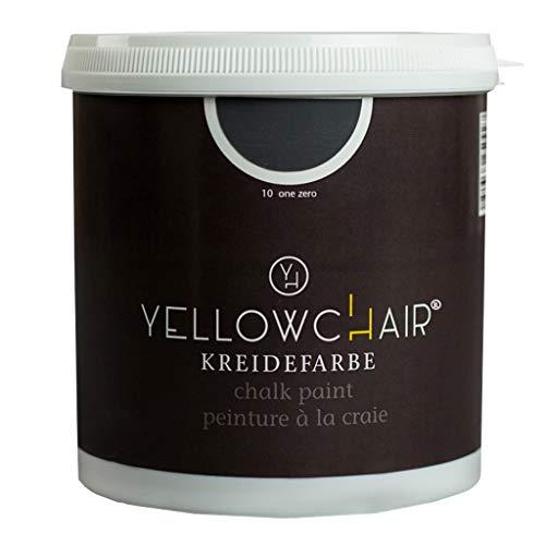 Kreidefarbe yellowchair 1 Liter ÖKO für Wände und Möbel Shabby Chic Vintage Look (No. 10 schwarz)