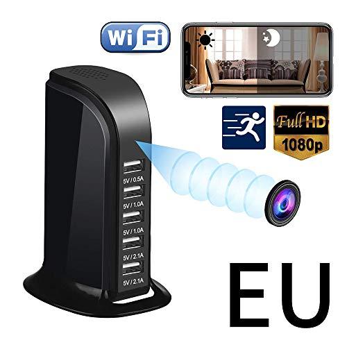 Mini WiFi CáMara Oculta CáMara EspíA Hd1080P Cargador USB CáMara InaláMbrica