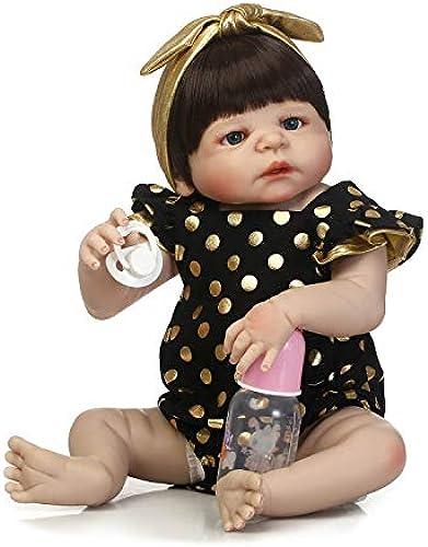 IIWOJ Baby Doll, Full Silikon Vinyl 22.44 Inch Girl-lebensecht Neugeborenes Safe Non Toxic Girl es Gift, Clothing Model Props
