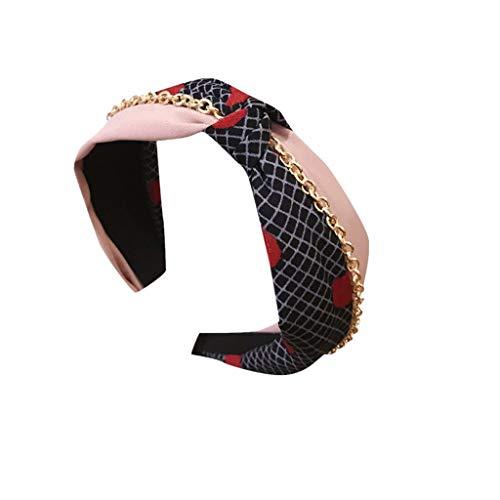 MAWOLY Damen Gestreift Stirnband Bogen Breit Haarband Seite SüßIgkeiten Farbe Niedlich Packung Knoten Linien Headband Polka Punkt Drucken Stirnbänder Mit Hairband Bandana