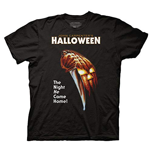 Ripple Junction Halloween Adult Unisex Key Art Light Weight 100% Cotton Crew T-Shirt MD Black