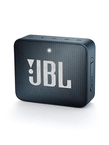 jbl Go 2 Portable Bluetooth Waterproof Speaker (Navy) (Renewed)