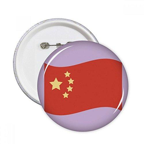 Drapeau de la Chine cinq étoiles broches rondes badge Button Vêtements Décoration 5pcs Cadeau XL multicolore