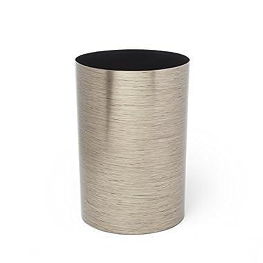 Umbra Metalla 4.5-Gallon Trash Can, Shadow Gray