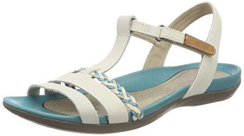 Clarks Damen Tealite Grace T-Spangen Sandalen, Beige (Beige Nubuck), 36 EU