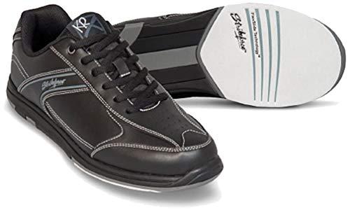 EMAX KR Strikeforce Flyer Bowling-Schuhe Damen und Herren, für Rechts- und Linkshänder in 4 Farben Schuhgröße 38,5-48 mit gratis Schuh-Deo Titania Foot Care (Schwarz, US 8,5 (41))