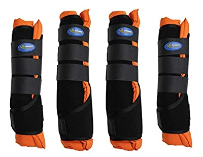 Professional Equine Medium Horse Stable Shipping Boots Wraps Front Rear 4 Pack Leg Hoof Care 41Shipping