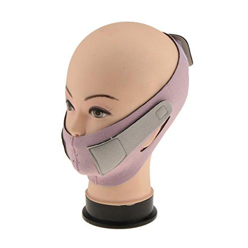 Toygogo Lift Up Shaping Chin Band Sangle Ceinture De Sommeil 3D V-Line Visage Visage Masque Soins De La Peau Rose