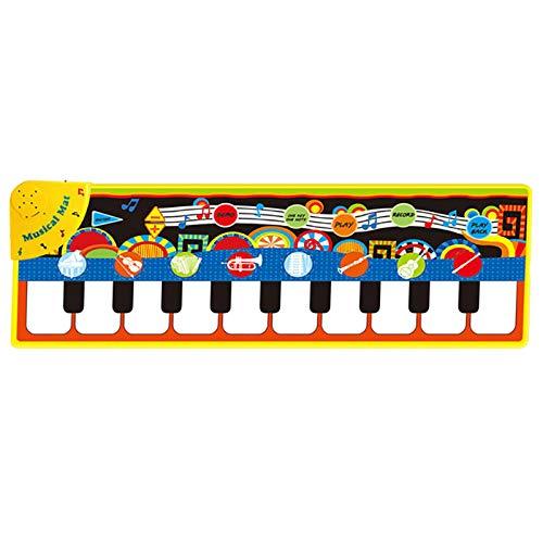 TOOGOO Klavier Matten Musik Teppiche Kinder Presse Spiel Matte mit Instrumenten Klang Spiel Matte Teppich Musik Lern Spielzeug für Kinder