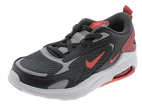 Nike Air Max Bolt, Scarpe da Corsa, Grigio Fumo Scuro Chiaro Crimson, 34 EU