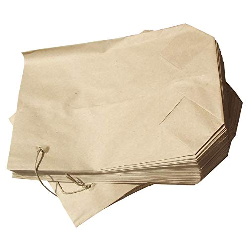 100 Bodenbeutel braun Natron 20 x 29 cm für 1500 g Papierbeutel mit Faden gefädelt Kreuzbodenbeutel Papiertüten Tüte Bäckertüte Fa.ars