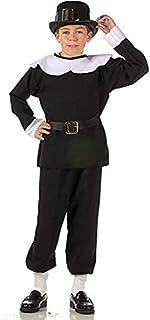 RG Costumes Pilgrim Boy Costume, Black/White, Small
