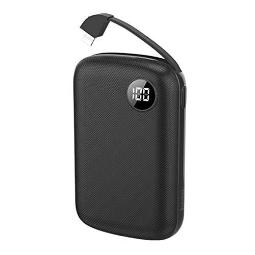 WENMWOne van de kleinste en lichtste 10000Mah externe batterijen, Ultra-Compact Draagbare oplader, High-Speed Charging Technology Power Bank voor Iphone, Samsung Galaxy En Meer, Zwart