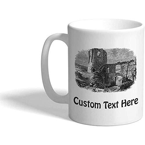 Gewohnheit Kaffeetasse 330 ml Gaillard-Schloss-Architektur-keramische Tee-Schale personalisierter Text