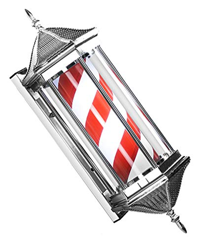JFSKD LED Barbers Pole Rotating Illuminating Salon Shop Teken Retro Kappers Lights Outdoor hangende muur bodem glas waterdichte kapper lamp