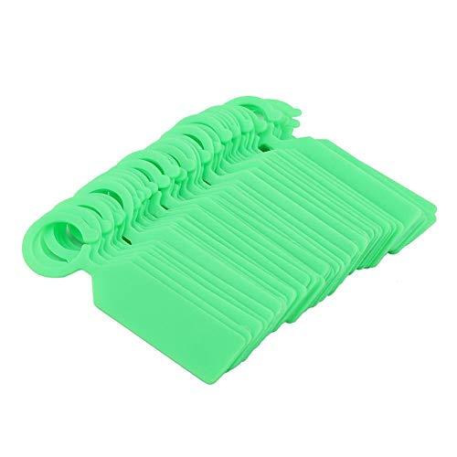Atyhao kunststof hangetiketten voor plantenboomhangers kinderkamer zomen tuindecoratie wit groen geel 100 stuks