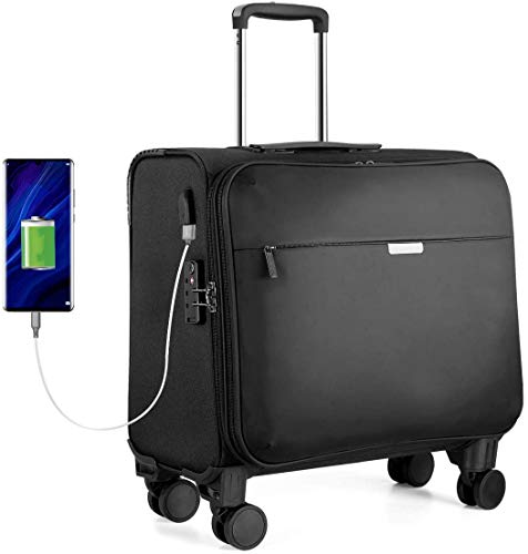 """Business Trolley Hanke Laptop Koffer mit TSA-Zollschloss USB-Ladeanschluss 14\"""" Laptopfach Handgepäck 33L 16 Zoll"""