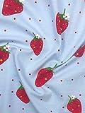 Jersey Stoff Kinderstoff Erdbeeren Breite 150cm ab 50cm