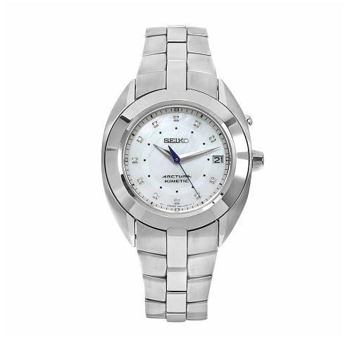 SEIKO Kinetic SKA899P1 - Reloj de Mujer de Cuarzo, Correa de Acero Inoxidable Color Plata