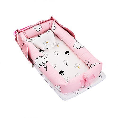Fuyamp Baby Sleeping Pod to Promote Nourishing Sleep,Baby Sleeping Lounger Bed Cushion Pillow for Newborn & Babies,Handmade, Breathable Cotton Newborn Bassinet