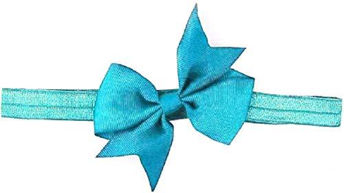 Cinta para el pelo del bebé - lazo - delgado - niña - niña - elástico - accesorios - color azul