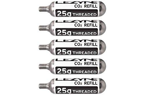 Lezyne CO2 Ersatzkartuschen 25g 5Stk, Silber, 1-C2-CRTDG-V125P5