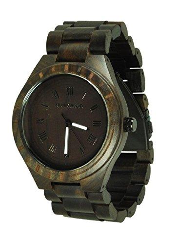 Munixwood Holzarmbanduhr Lupardus Sandelholz mit Uhrenbox Holzuhr