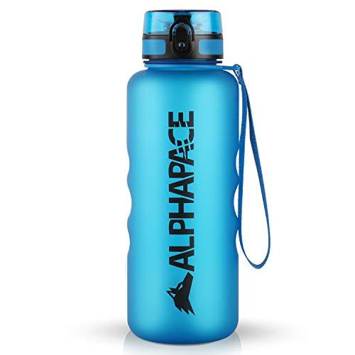 ALPHAPACE Sportflaschen Bpa Frei Trinkflasche Sport Sports Wasserflasche, 1,5 Liter, Blau