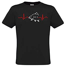 Krazz-Shirtz t-Shirt Carpe, Chemise Carp, T-Shirt Carp, Chemise Carpe, Carpe de pêche à Capuche, Carpe avec battements…
