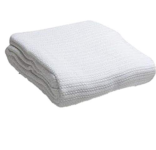 Head2Toe 100% Cotton Hospital Thermal Blanket - Open Weave Cotton Blanket - Breathable and Prevent Overheating - Soft, Comfortable and Warm - Hand and...