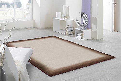 LAVAL ALBA echter original handgeknüpfter Nepal Teppich in beige, Größe: 70x140 cm