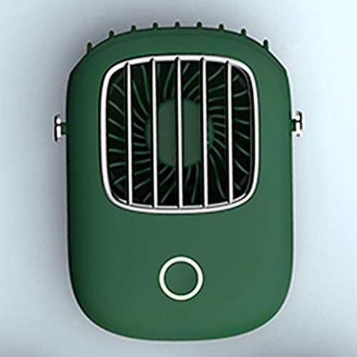 Lazy Hangende Nek Elektrische Ventilator, Desktop Outdoor USB Mini Fans Met 29 Bladeren 3D Gebogen Ventilatorbladen En Borstelloze Koperen Kern Motor,Green