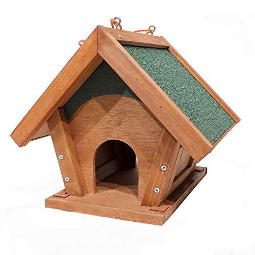 GLYP Garden Balcony Bird Feeder, Hanging Solid Wood Outdoor Bird's, Suitable For Courtyard/garden