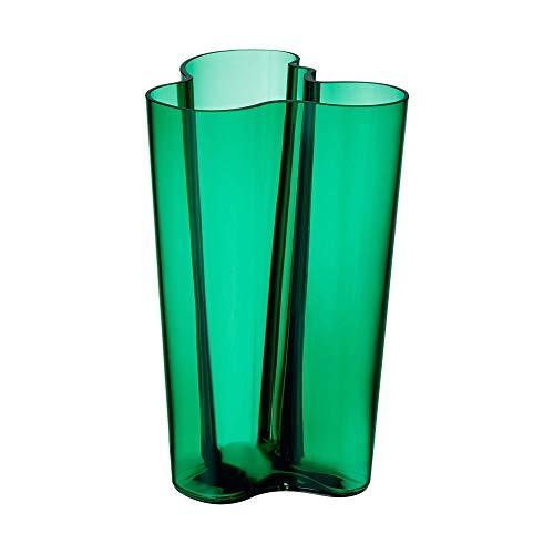 Iittala 1020037 Alvar Aalto Collection Vase, 251 mm, Emerald, Grün