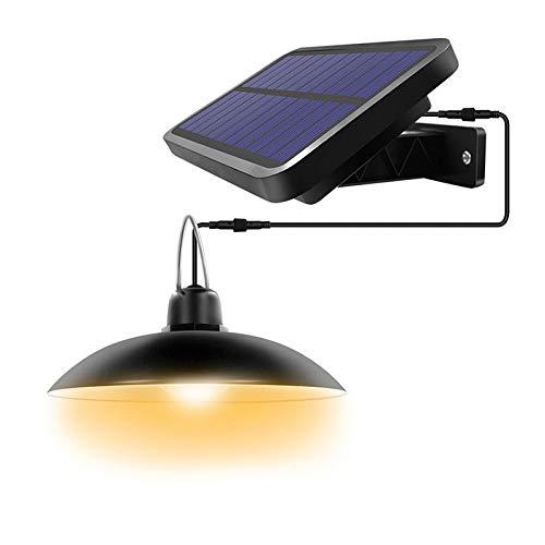 Sunsbell Luci Solari da Esterno Lampada a Sospensione con Telecomando Un Pannello Solare Regolabile con Ip65 Impermeabile per Decorazioni per La Casa da Interno Cortile da Giardino Esterno