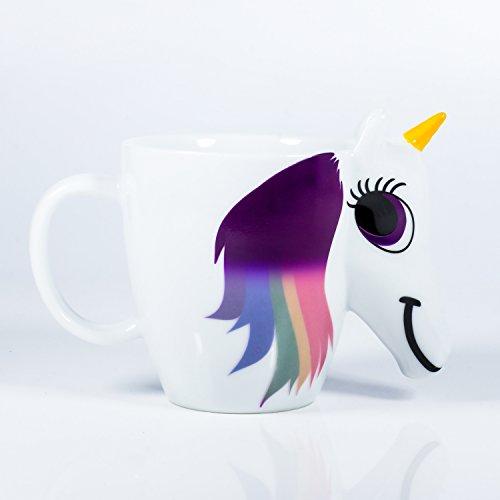 Lustige Einhorn Tasse 3D mit Thermoeffekt